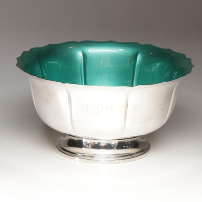Towle Enameled Sterling Silver Footed Bowl