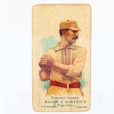 1888 N28 Allen & Ginter Tobacco Card of Timothy Keefe, Baseball Hall of Famer