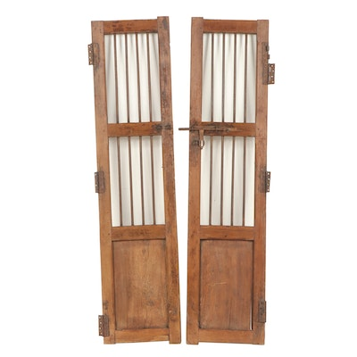 Chinese Style Wood and Metal Decorative Doors