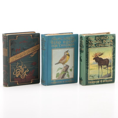 "Books on Animals including 1923 ""The Burgess Bird Book for Children"" by Burgess"