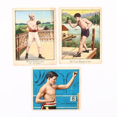 1910 T-220 Mecca Cigarettes Boxing Cards