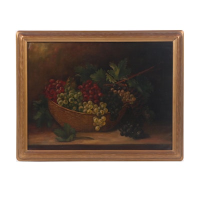 Mabel Lemos Still Life with Fruit Oil Painting