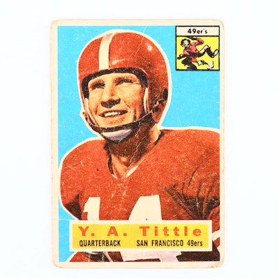 1956 Topps Y.A. Tittle Football Card