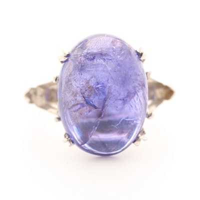 Platinum 13.08 CT Tanzanite Ring