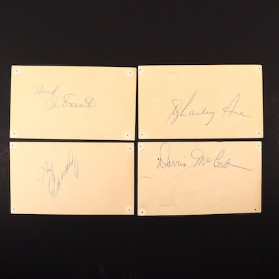 Detroit Lions Football Player Autographs, Late 1950s