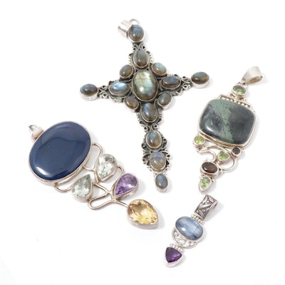 Sterling Silver Pendants with Gemstones