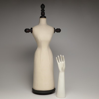 Glove Display and D. Stevens Decorative Torso