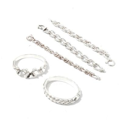 Sterling and 950 Silver Bracelets