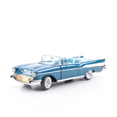 The Danbury Mint 1957 Chevrolet BelAir Blue Diecast Model Car