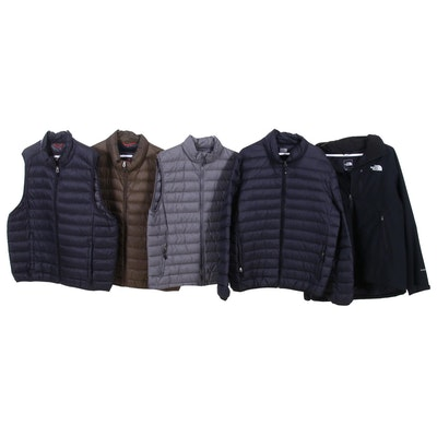 Men's Puffer Coat and Vests Including Hawke & Co. and The North Face