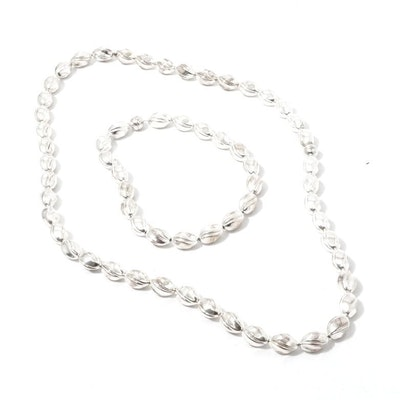 Sterling Silver Necklaces with Magnetic Clasps