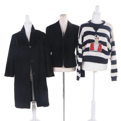 May Fair Fashion Coat with Emanuel Ungaro Jacket and Tarazzia Sweater
