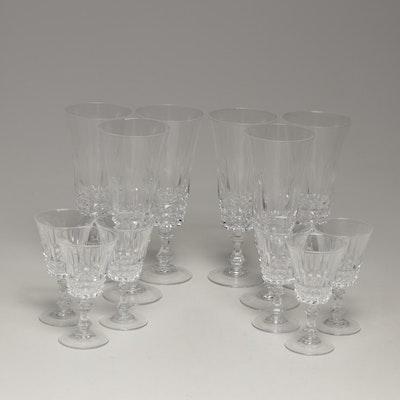 "Cristal D'Arques-Durand ""Tuilleries Villandry"" Champagne Flutes and Cordials"