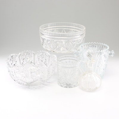 Cut Glass and Crystal Serveware, Mid-Century