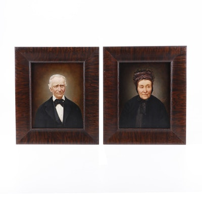 Pair of Portrait Oil Paintings, 19th Century