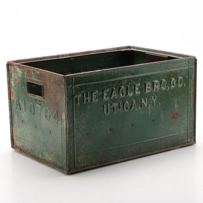 Steel Beer Bottle Crate for The Eagle Brewing Company, Circa 1940