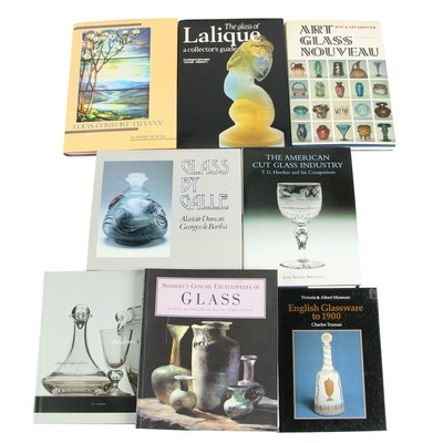 "Glassware Reference Books including ""The Glass of Lalique"" by Christopher Percy"