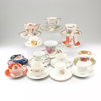 Porcelain and Bone China Tea Settings