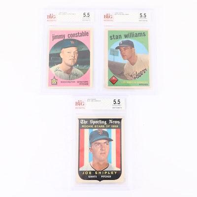 1959 Topps Baseball Cards, Graded