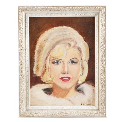 H.A. Viggiano Portrait Oil Painting