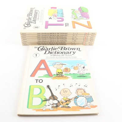"""The Charlie Brown Dictionary"" Complete 8 Volume Set by Charles M. Schulz"