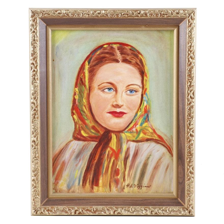 H.A. Viggiano Portrait Oil Painting