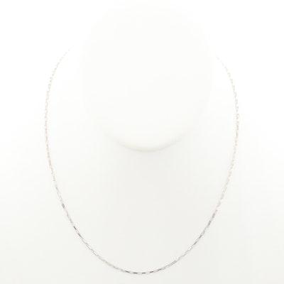 14K White Gold Chain