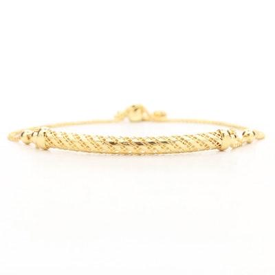 14K Yellow Gold Bolo Bracelet