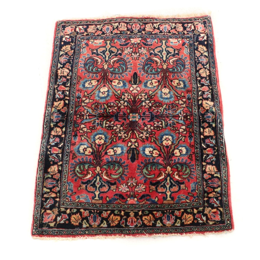 Hand-Knotted Persian Sarouk Wool Rug