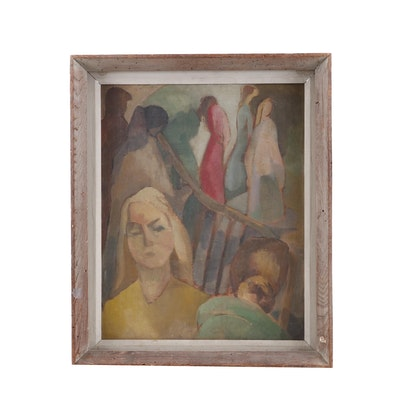 Modernist Figural Oil Painting