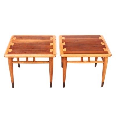 "Pair of Lane ""Acclaim"" Walnut and Ash End Tables, 1960s"