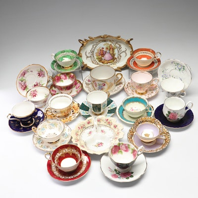 Bone China Tea Settings and Serving Pieces Featuring Royal Grafton
