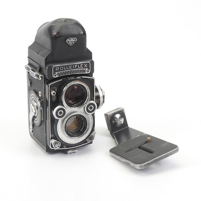 Rollei Rolleiflex Twin Lens Camera with Viewfinder