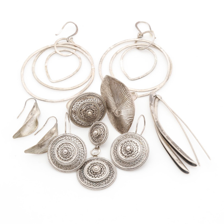 Sterling Silver Contemporary Jewelry