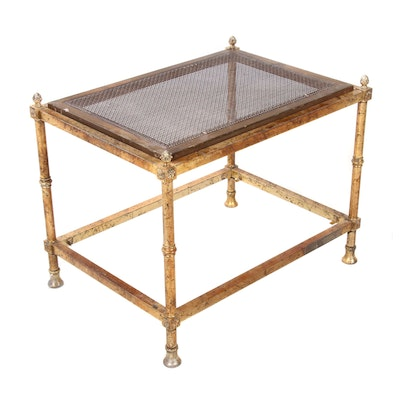 Neoclassical Style Brass End Table, Circa 1960s