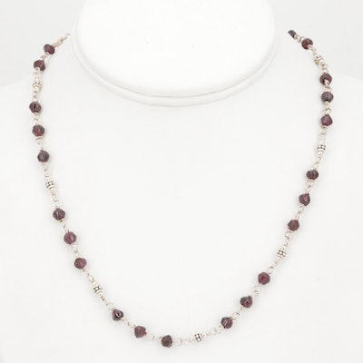 Sterling Silver and Bead Necklace