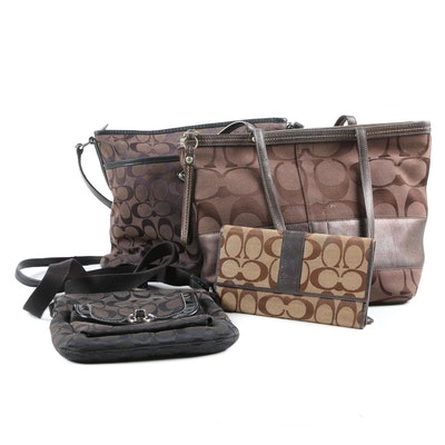Coach Swing Bag with Turnlock Pocket, Shoulder Tote, Checkbook Wallet and More