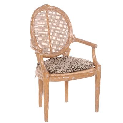 Hand Made Wood Rustic Style Armchair, Contemporary