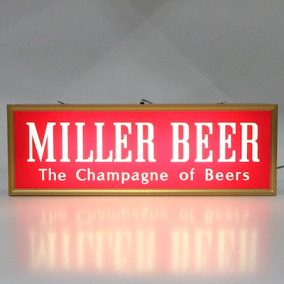 Miller High Life Double Sided Illuminated Advertising Sign