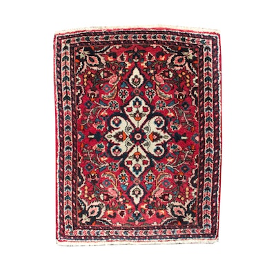 "Basiran Hand-Knotted Persian ""Super Sarouk"" Wool Floor Mat"