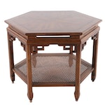 Mid-Century Modern Hexagonal Asian Inspired End Table Attributed to Century