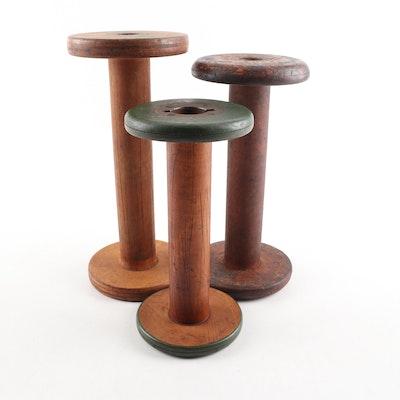 Vintage Wooden Textile Spools