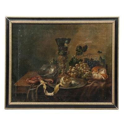 Mid 20th Century Copy Oil Painting After Abraham van Beijeren