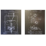 Decorative Film Camera Schematic Wall Hangings