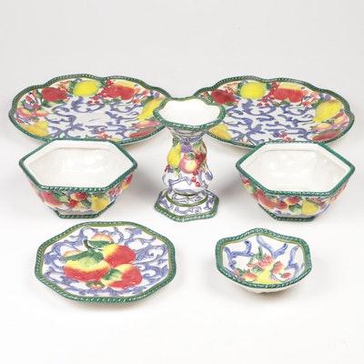 Fitz & Floyd Hand-Painted Majolica Tableware