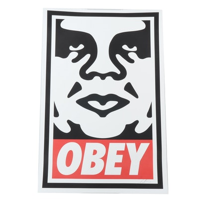 "Shepard Fairey Offset Print ""Obey"""