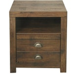 Contemporary Rustic Wooden Nightstand