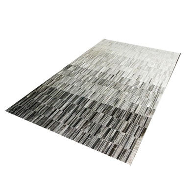"""Machine Made Surya """"Outback"""" Cowhide and Wool Area Rug"""