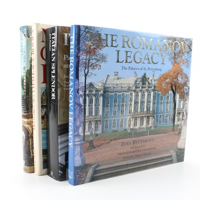 "Books on European Palaces including ""The Romanov Legacy"" by Zoia Belyakova"