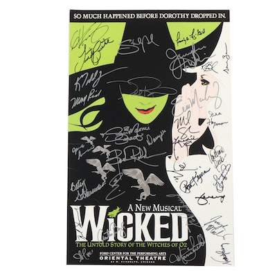 """Signed Promotional Musical Poster for """"Wicked"""""""